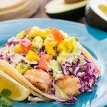 Shrimp Tacos with Coconut Coleslaw & Mango Salsa Natash'as Kitchen