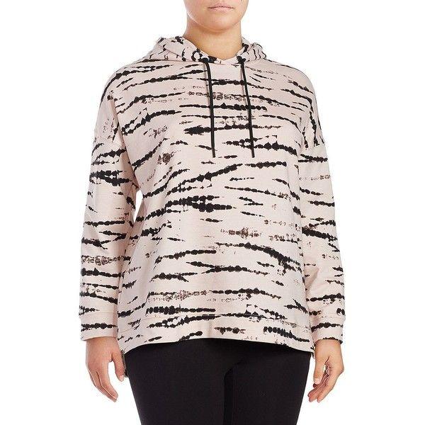 Marc New York Performance Women's Tie-Dye Cotton Hoodie ($41) ❤ liked on Polyvore featuring plus size women's fashion, plus size clothing, plus size tops, plus size hoodies, neutral, pink tie dye hoodie, tie dye hoodies, pink hoodie, hooded sweatshirt and sweatshirt hoodies
