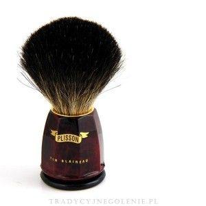 Plisson - pędzel Burled walnut, Black Badger,  rozm. 10