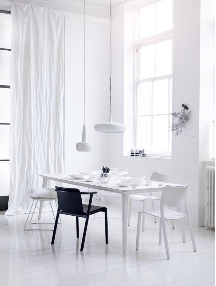 Our Clava and Clava Dine lampshades in white have appeared in this 'Colour stories: Monochrome Twist' feature in the UK's @living_etc.  Photo credit: Simon Bevan