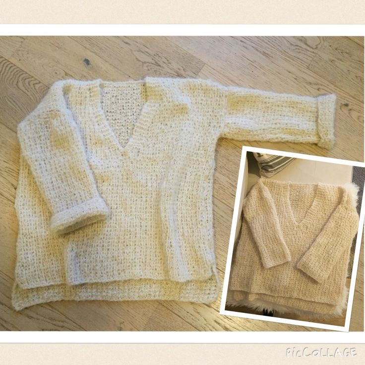Dorthegenser with vneck:) Made by me #knitted #sweater