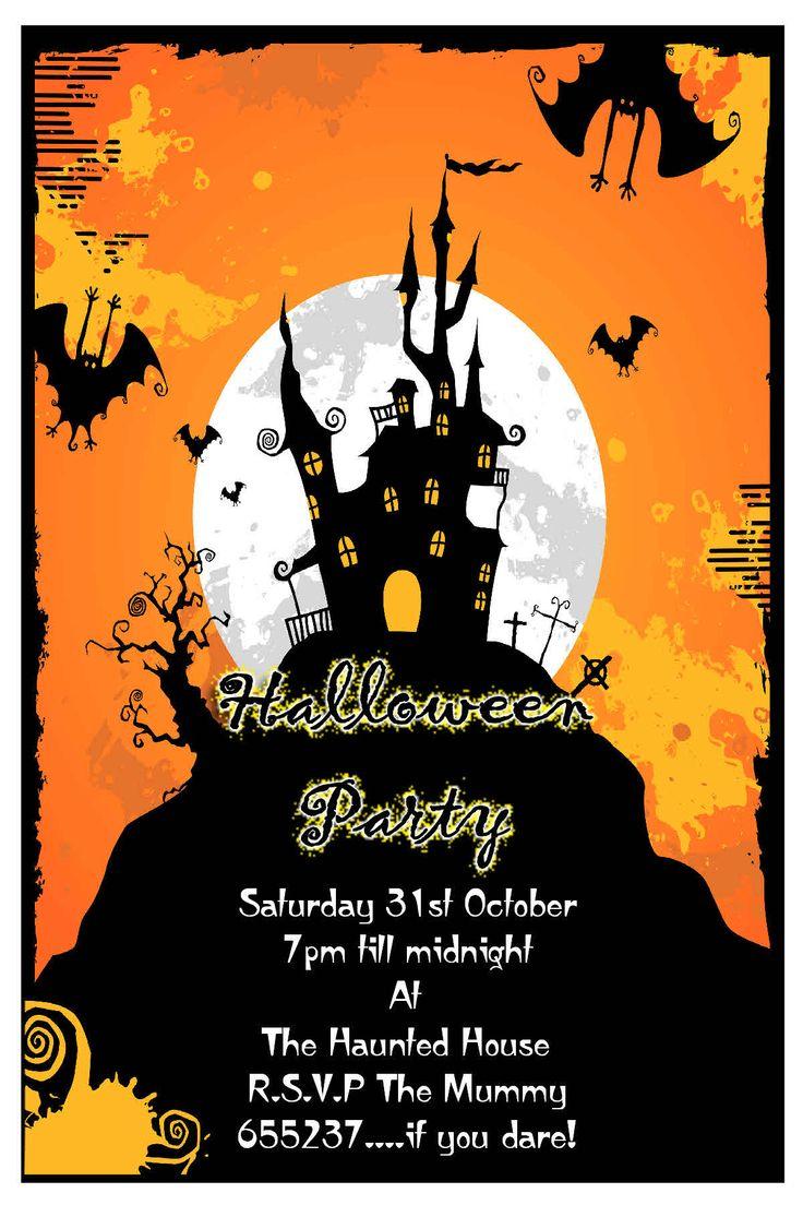 163 best Halloween Invitation images on Pinterest | Halloween ...