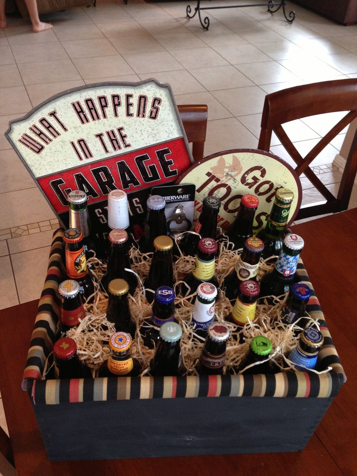 Premium beer basket for a golf tournament silent auction.