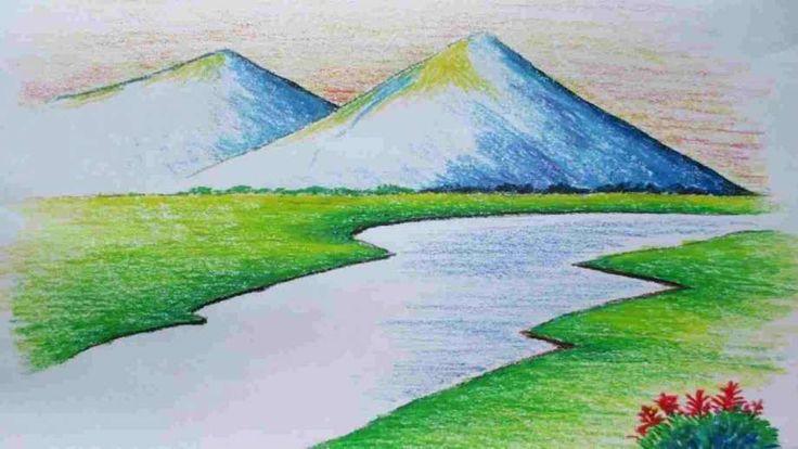 landscape drawing watercolor easy beginners paintings drawings scenery simple painting nature landscapes water painterlegend