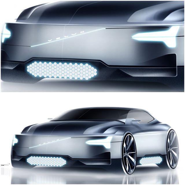 Daily work with a safety Volvo sedan concept // #Volvo #sedan #safety…