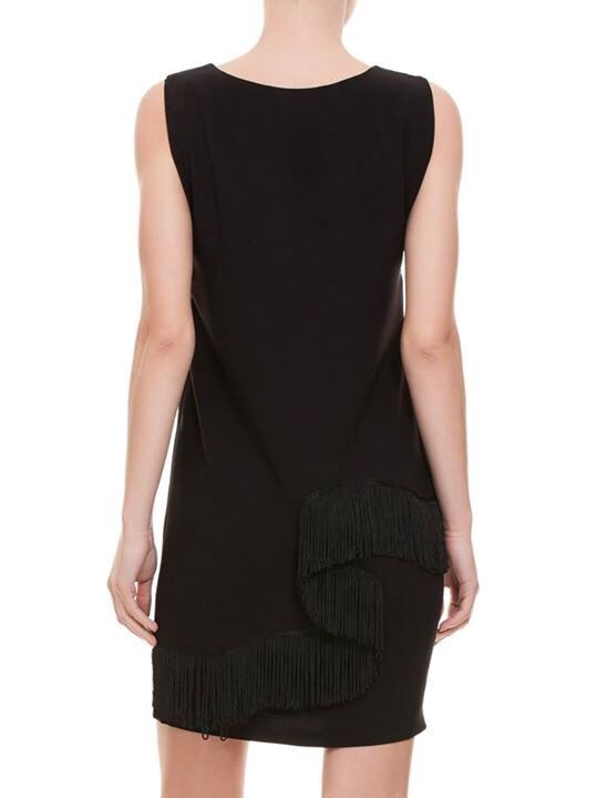 Püskül Detaylı siyah ipek brokar elbise Nur Charm 2015 kış kolleksiyonu sevgililer Gününe özel www.1V1Y.com da kampanya da .