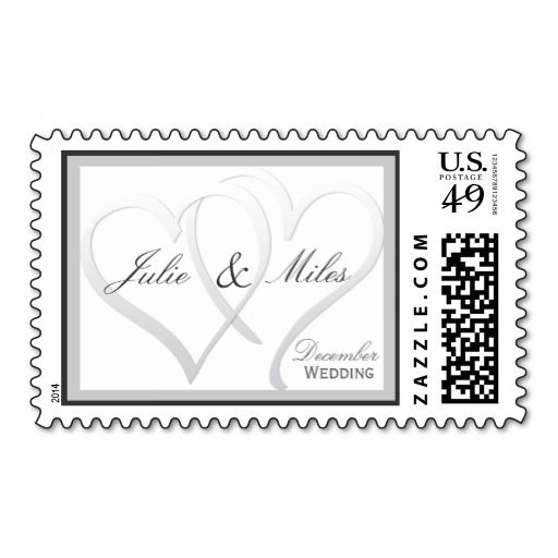 December Wedding Customizable Hearts Stamps This Is To Put A Personal Touch On Your