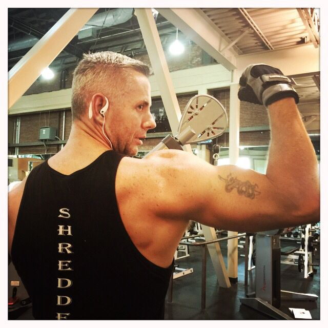Bruce Gevers 2015 Masters Men's Physique owner Live Shredded Clothing www.liveshreddedclothing.com training at 24 Hour Fitness The Pearl Portland Oregon