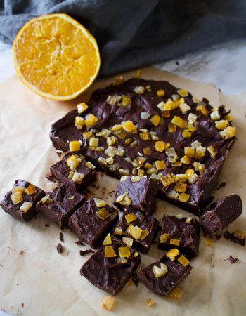 Fudge med smak av apelsin och choklad