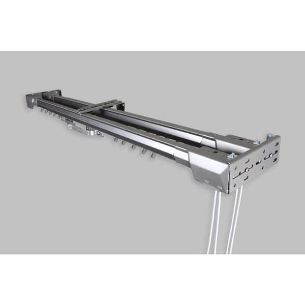 Instyledesign Silver Heavy Duty Traverse Double Rod Center Open