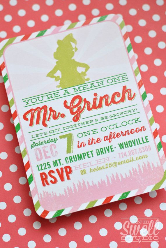 110 best images about Invitations by One Swell Studio – Diy Christmas Party Invitations