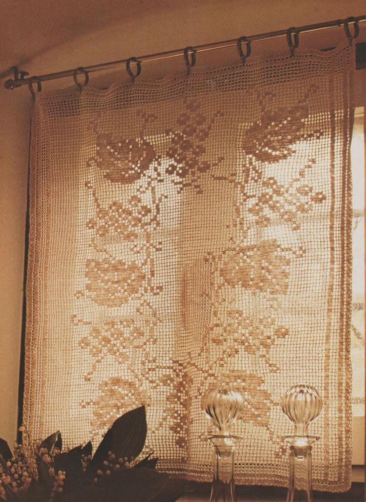 les 26 meilleures images du tableau rideaux crochet sur pinterest rideaux crochet tutoriel et. Black Bedroom Furniture Sets. Home Design Ideas