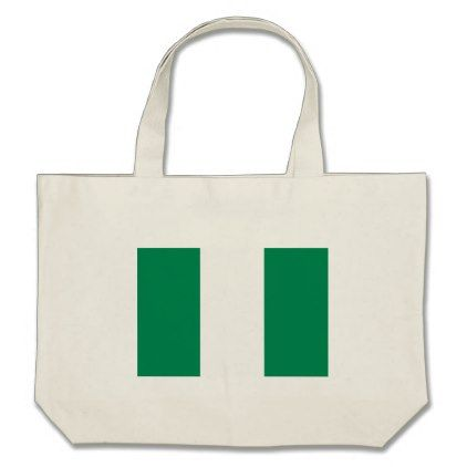 #Low Cost! Nigeria Flag Large Tote Bag - #travel #bags