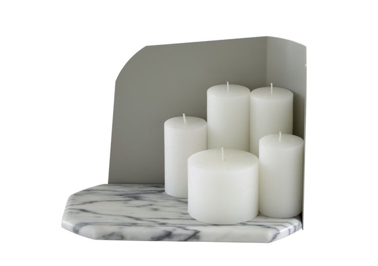 ABBESSE comes complete with no less than 5 candles for the ultimate romantic! Fashioned in marble, lacquered steel (and wax!) £213.
