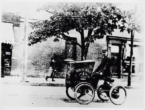 Mail Delivery 1901 - Massey -Harris quadracycle (via Vintage Toronto facebook group)