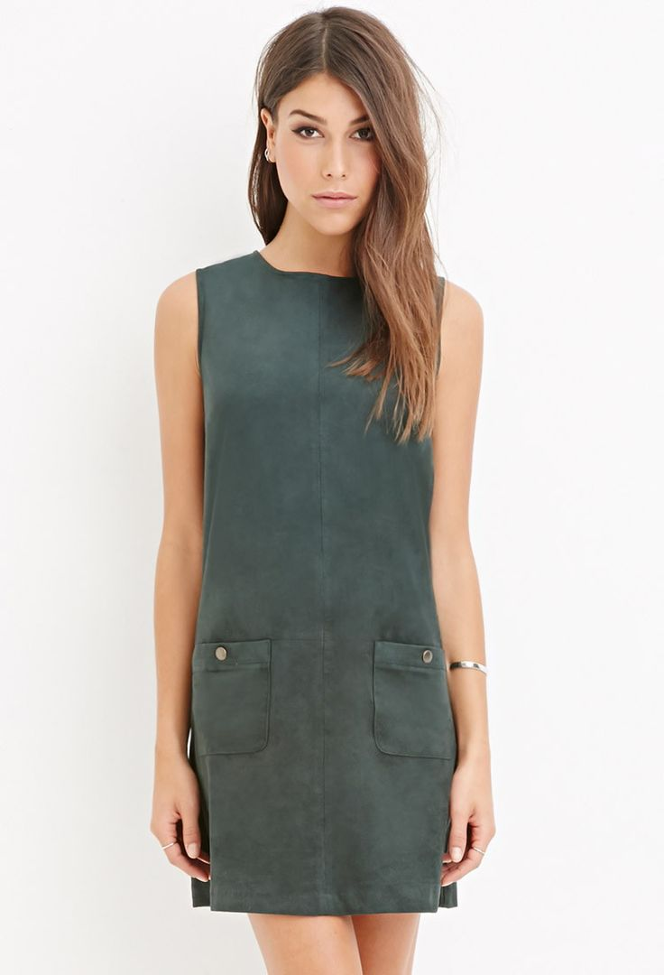Faux Suede Shift Dress - New Arrivals - 2000158272 - Forever 21 EU English