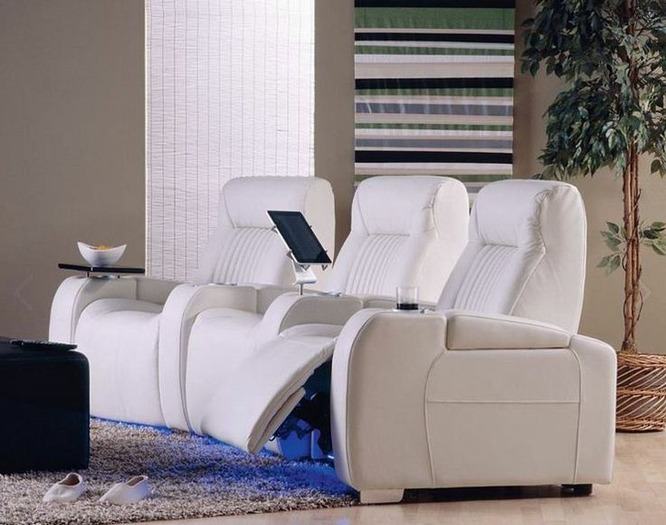 78 images about white leather furniture on pinterest for Home theater furniture atlanta