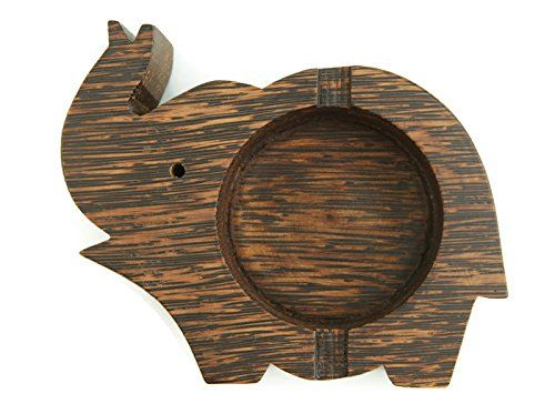 Ashtray cigar holder stand elephant made from palm wood for your indoor and outdoor decoration *** ** AMAZON BEST BUY **