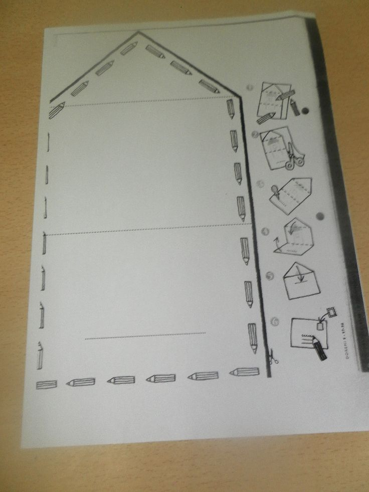 Homemade envelope template for Post Office Dramatic Play Area in February