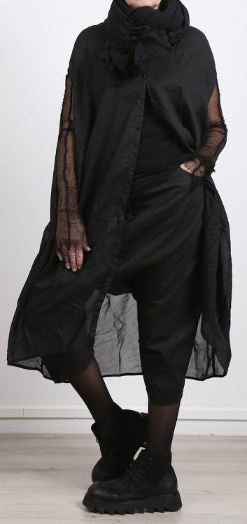 rundholz dip - Kleid in Rundform Batist black crisp - Sommer 2017