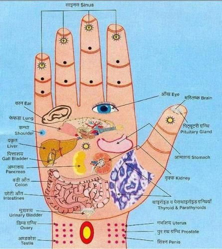 Reflexology Works! Is an alternative medicine involving the physical act of applying pressure to the feet, hands, or ears without the use of oil or lotion. Press with thumb for 5 seconds & release for 3 seconds, in the affected point. Repeat for 2-3 minutes for 5 to 10 days.