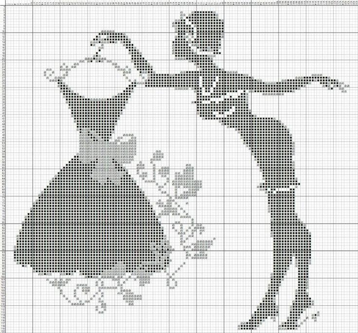 0 point de croix femme tenant une robe - cross stitch lady holding a dress