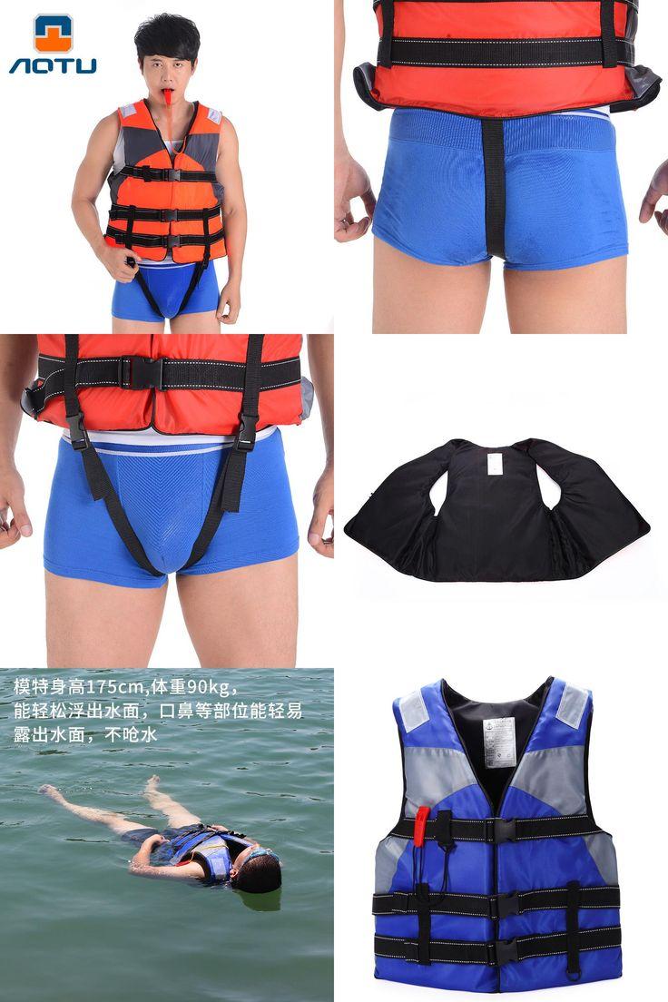 [Visit to Buy] aotu Adult Men Women Professional Swimming Life Jackets Floating Snorkeling Fishing Hooks Buoyancy Vest Send Whistles #Advertisement