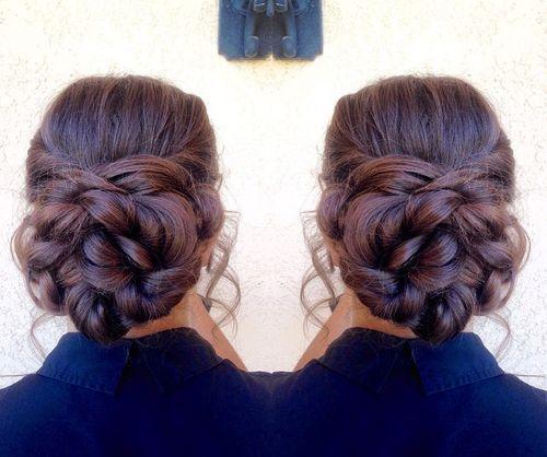 braided bun for thick hair