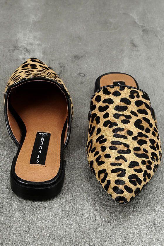 15b67728341 The Steven by Steve Madden Valent L Leopard Pony Fur Loafer Slides have a  laid back