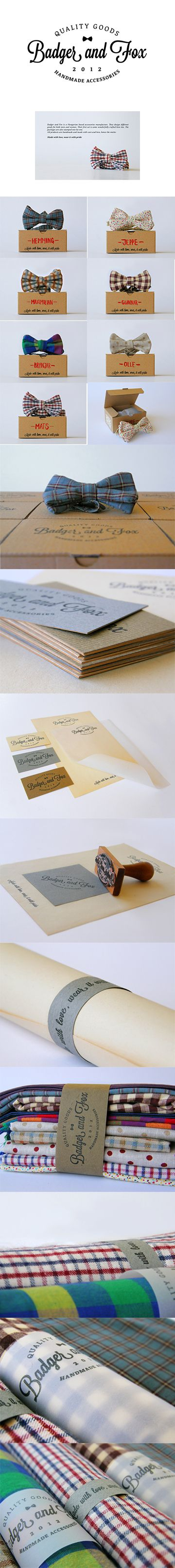 Packaging & Presentation #creativemarketing #badgerandfox #bowties
