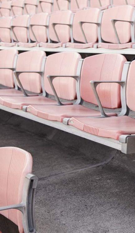 Stadium seating in pink