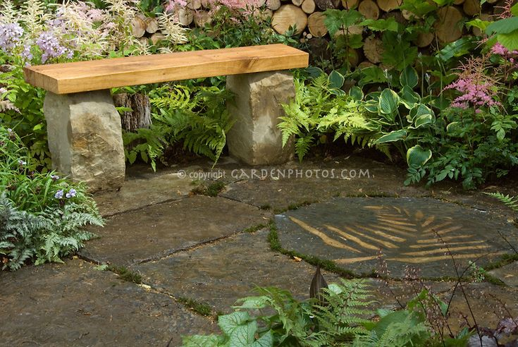 Best 25 stone garden bench ideas on pinterest corner garden bench garden benches and simple Stone garden bench