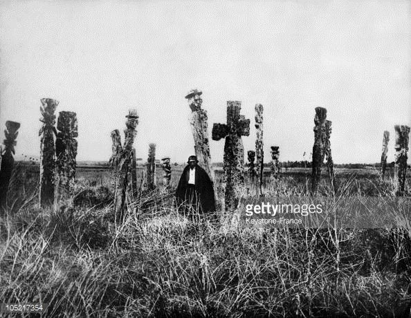 News Photo : Mapuche Cemetery In Chile In 1890.