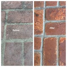 I have not always been a fan of brick, until I refreshed ours with a little concrete stain. Here is the before picture: Notice that the brick looks old, worn, and ... well... pink. I'm not a huge f...