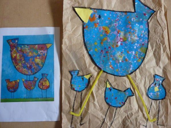 Inspiration pour petite poule rousse : l'artise Eva C. Crawfort