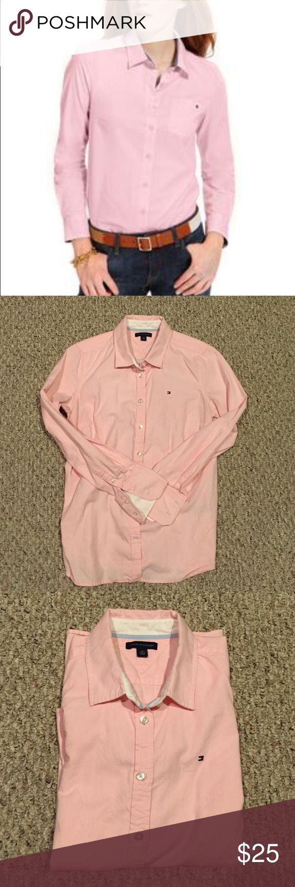 REDUCED! Timeless - Classic Women's Oxford Shirt Classic oxford. Perfect for any occasion. This TH shirt is in excellent condition.  Details: cotton, machine washable, button front closures. A must have :) Tommy Hilfiger Tops Button Down Shirts
