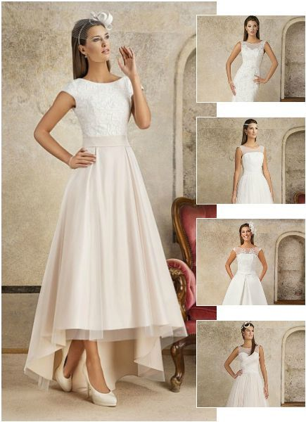 Krótkie i długie suknie ślubne w naszej ofercie. Zapraszamy do naszego salonu w Katowicach :) www.fularazywczyk.pl