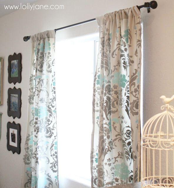DIY Home Crafts DIY Stenciled Curtains DIY Home Crafts