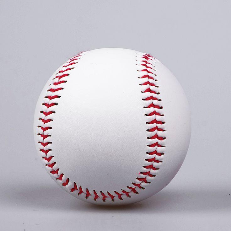전문 1 개 수제 야구 공 뜨거운 판매 9 인치 화이트 소프트볼 야구 공 야외 스포츠 연습 훈련