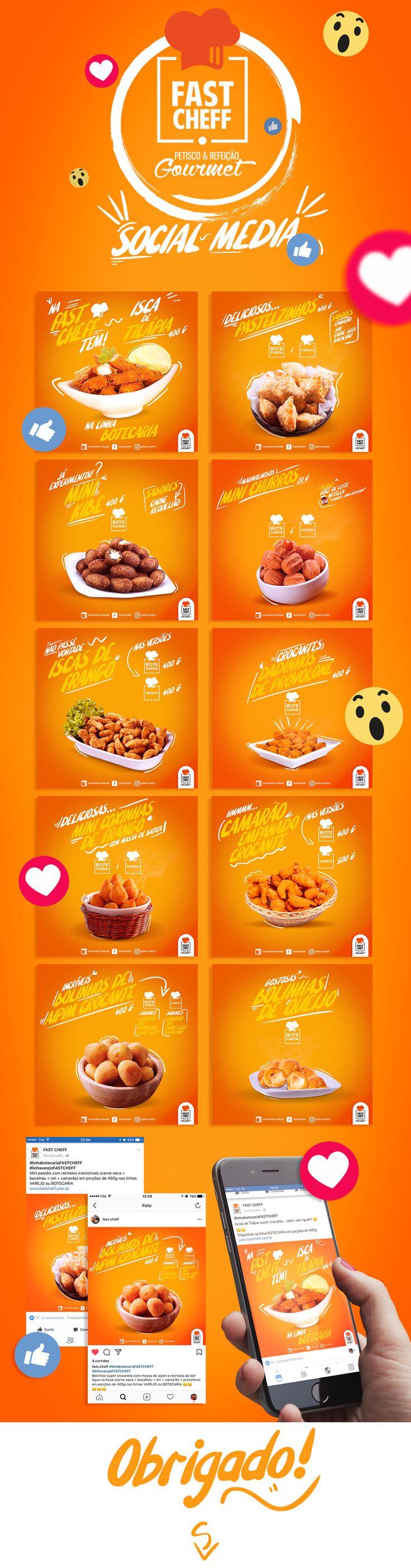projeto de mídias sociais para a empresa de comidas Fast Cheff