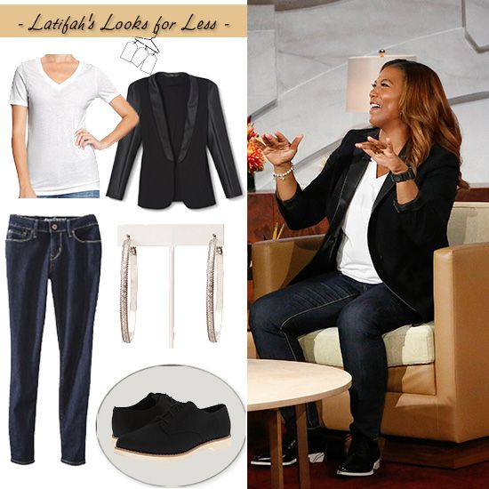 impressive queen latifah outfit