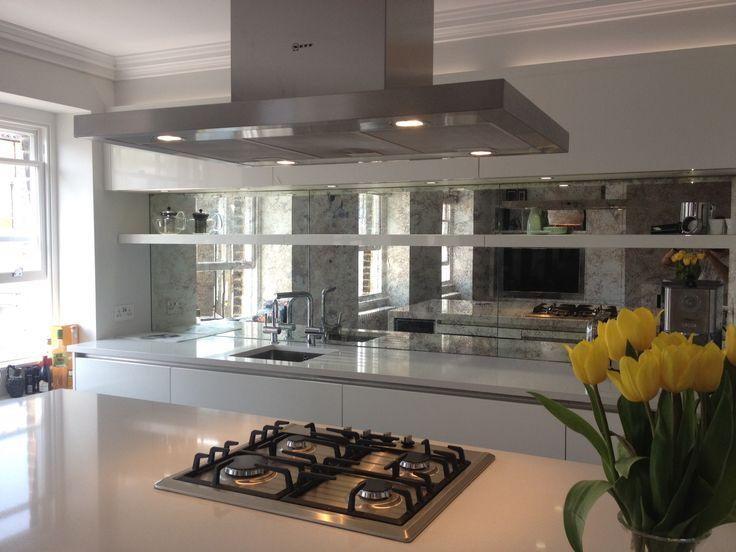 Mirrored Kitchen Splashbacks - Saligo Design presents a stunning collection of Mirrored Kitchen Splashbacks for decoration or art