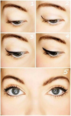 easy eye makeup step  maquillaje de belleza tips de