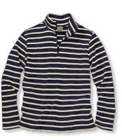 Women's French Sailor's Shirt, Quarter-Zip Pullover