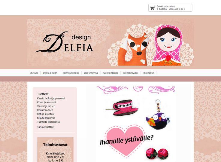 Huhtikuussa kotisivukilpailun voiton vei Delfia designin verkkokauppa, jossa myydään kierrätysmateriaaleista luovasti valmistettuja uniikkeja tuotteita. Selkeillä ja helppokäyttöisillä kotisivuilla on houkutteleva värimaailma. Myös verkkokaupan tuoteryhmät ja tuotteet on lajiteltu selkeästi ja iloisen veikeistä tuotteista on hyvät kuvat.