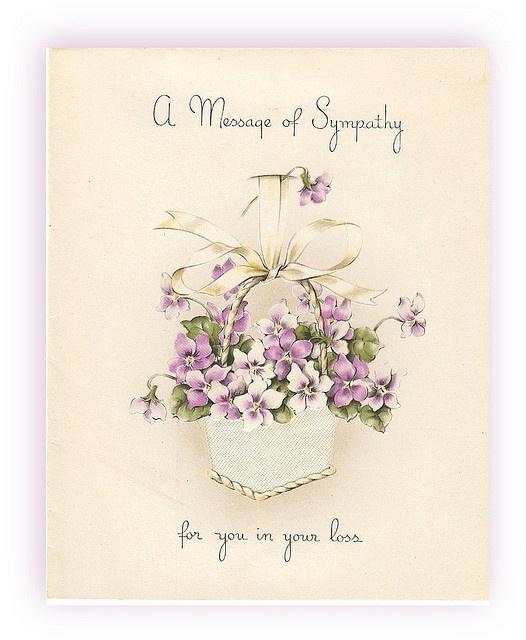 8 best Vintage Sympathy Cards images on Pinterest Sympathy cards