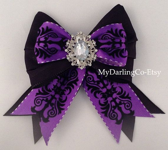 This Bow is Disney Inspired, Sleeping Beautys Evil Queen Maleficent, from the Movie Maleficent. Great for your Maleficent Party, Costume or