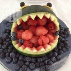 Rezeptbild: Hai Wassermelone Anleitung