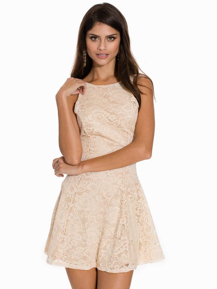 Flower Lace Skater Dress - John Zack - Cream - Juhlamekot - Vaatteet - Nainen - Nelly.com