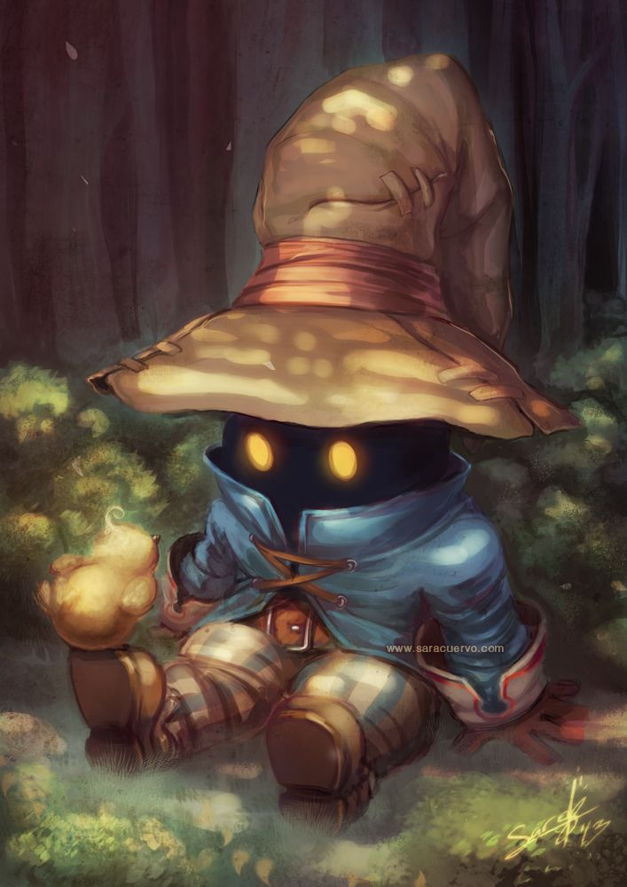 """Peace in the Woods"" featuring Vivi (Final Fantasy IX) by SaraCuervo on deviantART"